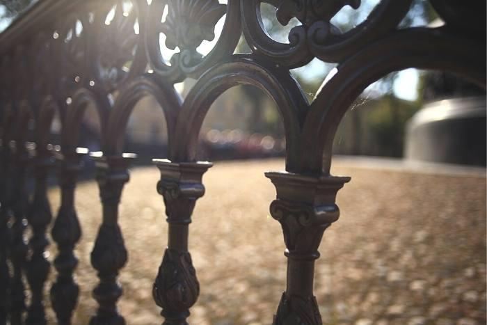 black ornamental fencing